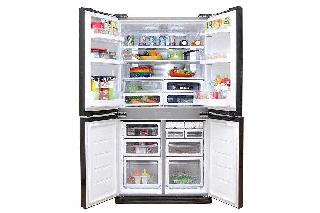 Tủ lạnh Sharp SJ-FX680V-ST - Thiết kế side by side sang trọng với 4 cánh tủ mở rộng
